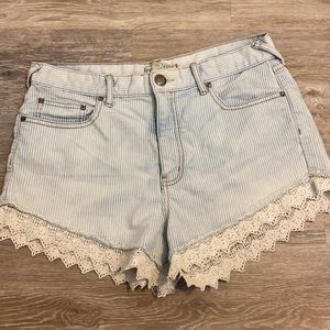 Free people size 29 shorts with lace hem